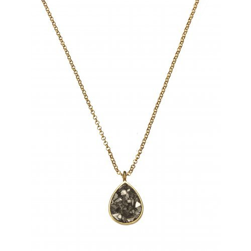 Rough Diamond Teardrop Pendant on Chain by Chaya Elfasi