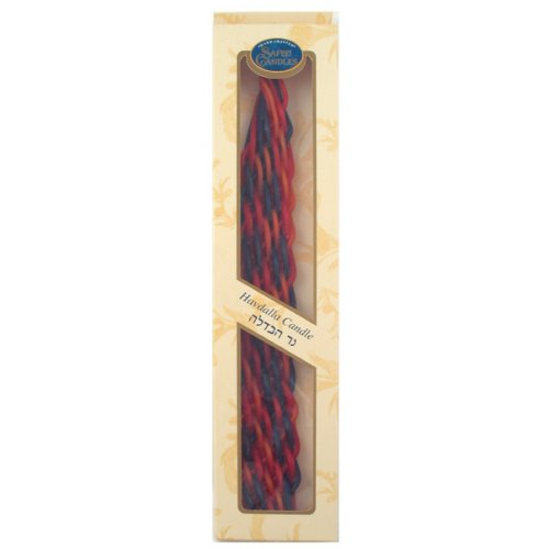 Safed Braided Wide Havdalah Candle