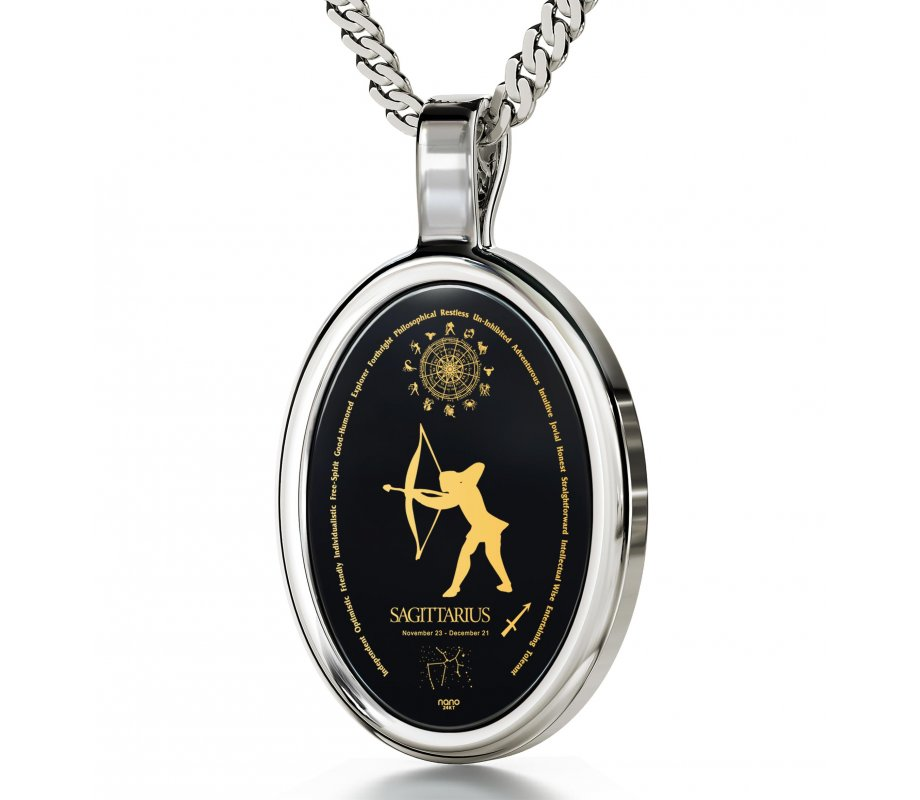 Sagittarius Zodiac Pendant By Nano Jewelry Ajudaica Com