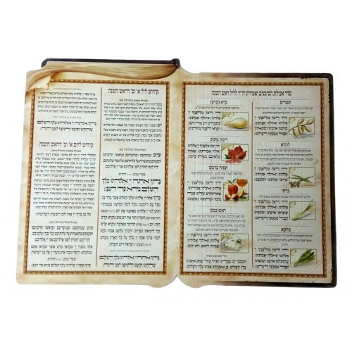 Shanah Tovah Card with Prayers & Blessings for Symbolic Rosh Hashanah Foods