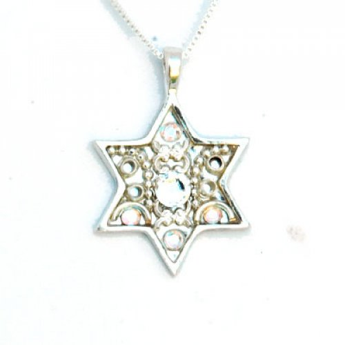 Silver Design Star of David Necklace by Ester Shahaf