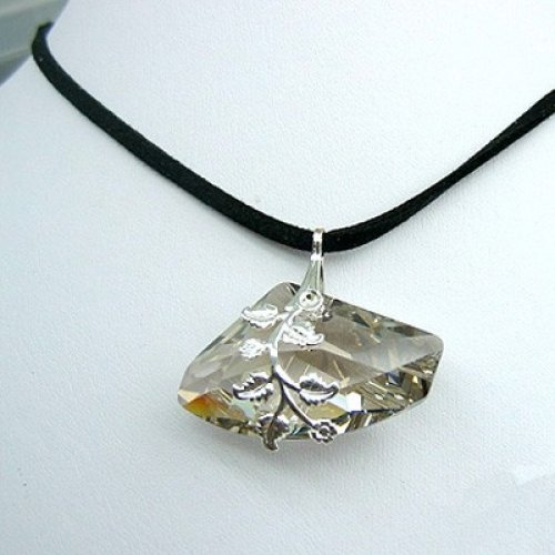 Silver Nugget Style Necklace by Edita