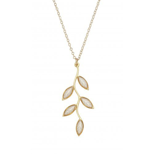 Small Olive Leaf Necklace