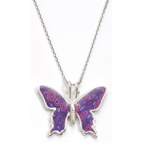Small Purple Butterfly Necklace