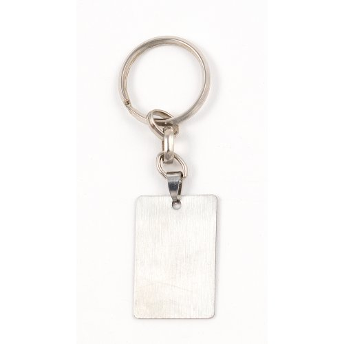 Stainless Steel Dog Tag Key Ring - Jerusalem Engraving