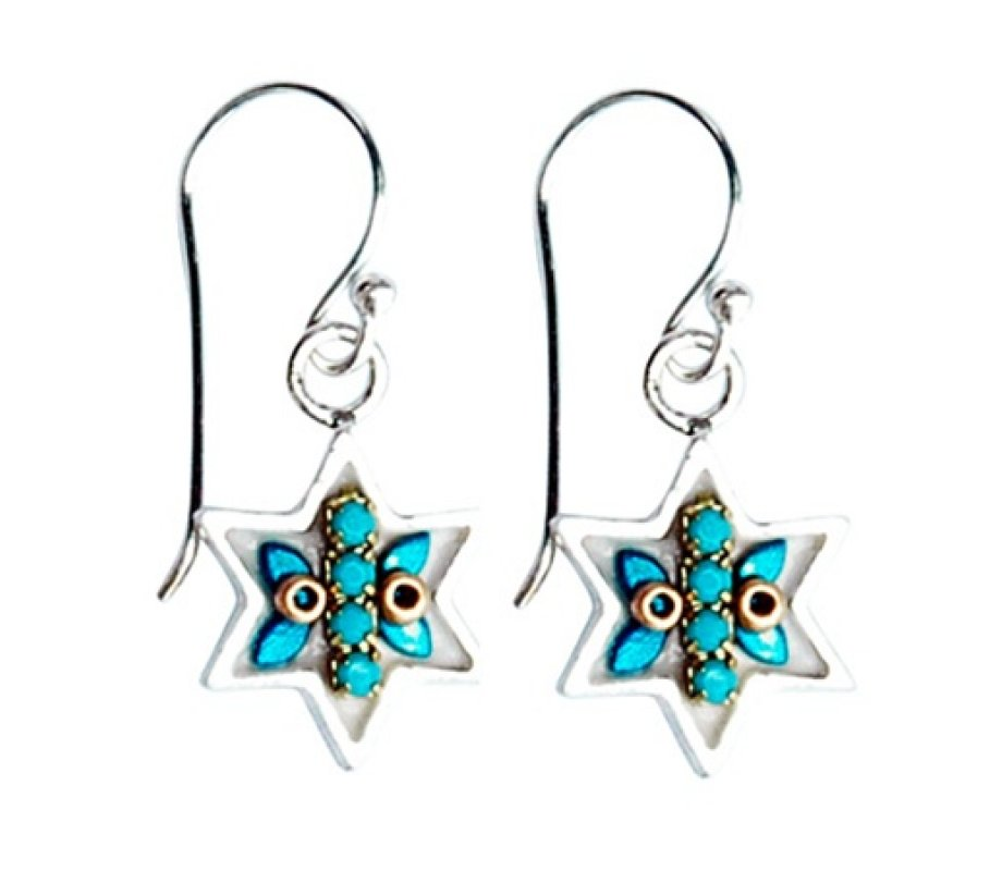 Star Of David Jewish Earrings By Ester Shahaf