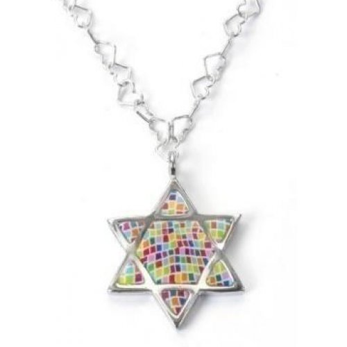 Star of David Mosaic Necklace