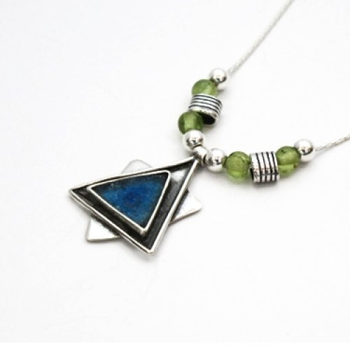 Star of David Roman Glass Necklace