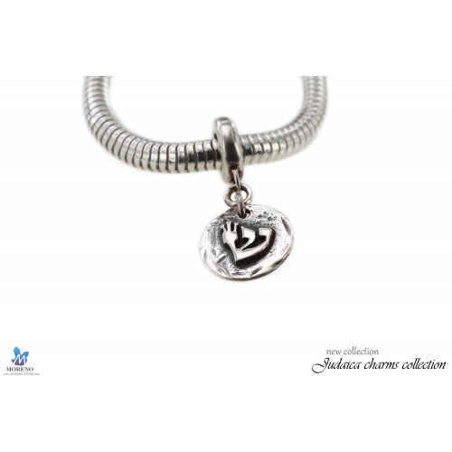 Sterling Silver Charm with Shin