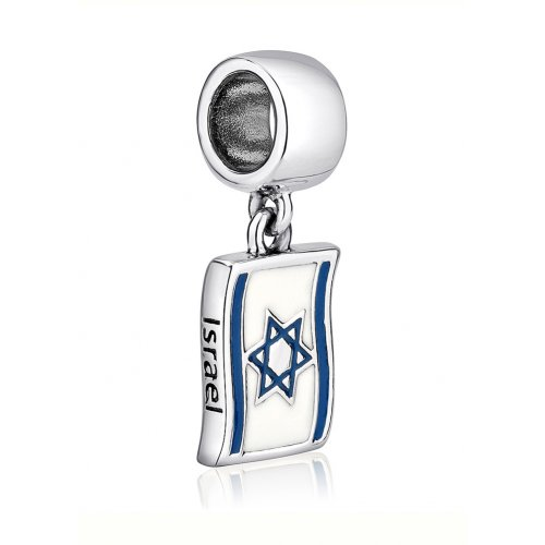 Sterling Silver Flag of Israel Charm
