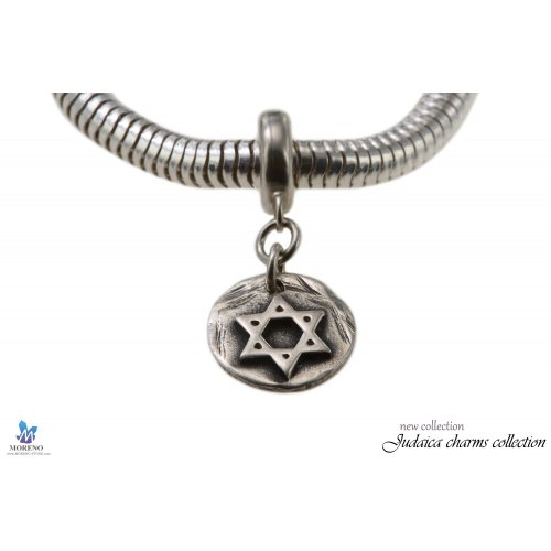 Sterling Silver Large Star of David Bracelet Charm