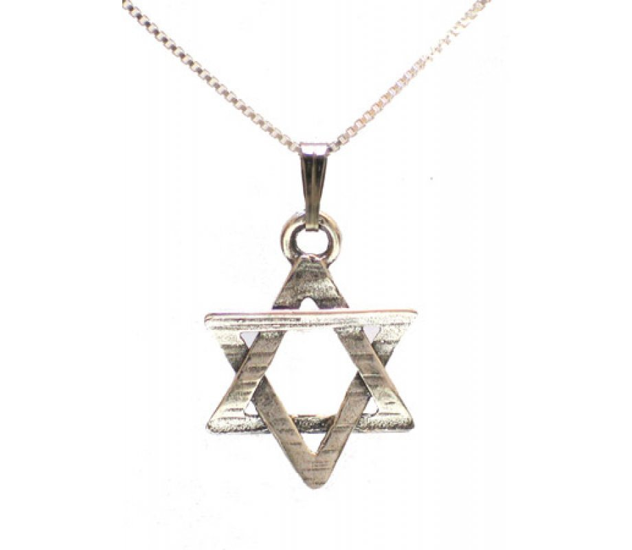 Sterling silver magen david pendant ajudaica sterling silver magen david pendant aloadofball Image collections