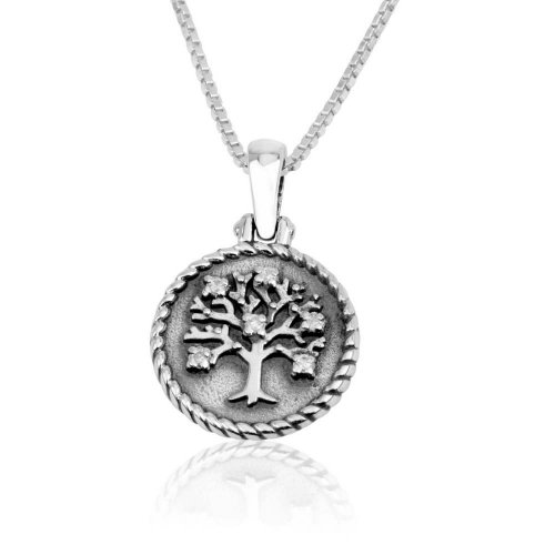 Sterling Silver Pendant Necklace - Tree of Life
