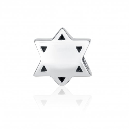 Sterling Silver Star of David Breastplate Charm