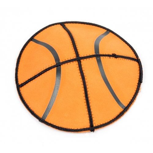Suede Kippah - Basketball design