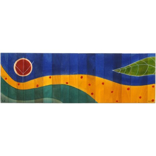 Table Runner Yellow Path by Kakadu Art