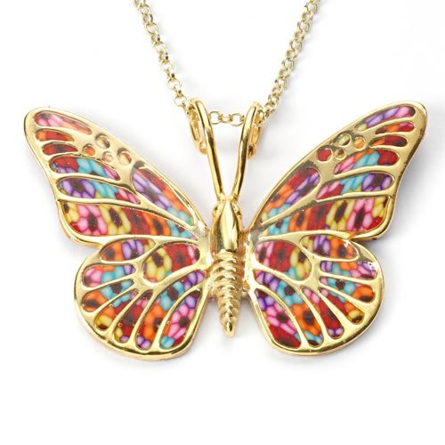 Thousand-Flowers Butterfly Pendant