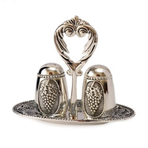 Three Piece Salt and Pepper Set - Grape Design