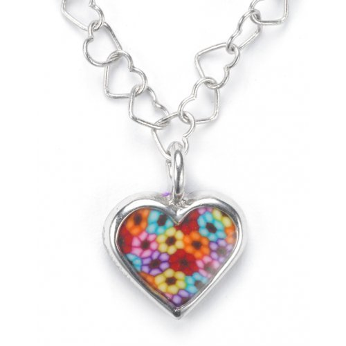 Tiny Thousand Flower Heart Charm SALE PRICE - 1 LEFT IN STOCK !!
