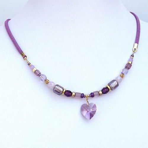 Violet Heart Necklace by Edita