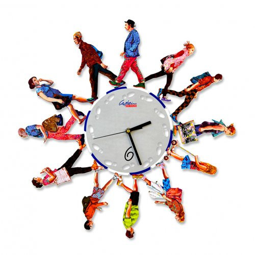 Walkers Time Wall Clock by David Gerstein