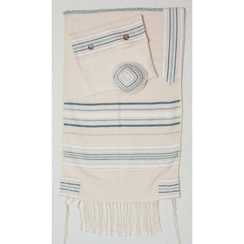 Weaving Creation Hand Woven Tallit Chesed - Kindness