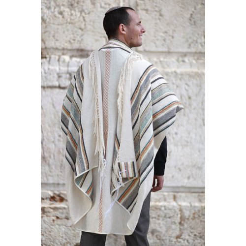 Weaving Creation Hand Woven Tallit Yesod - Foundation