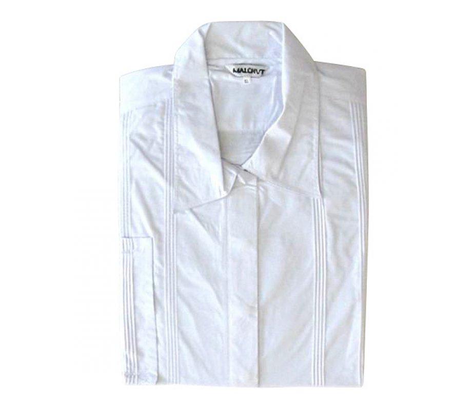 White Cotton Polyester Kittel - Classic Design   aJudaica.com