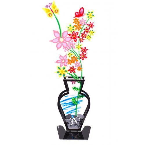 Wildflower Flower Vase by Tzuki - Pink Flowers