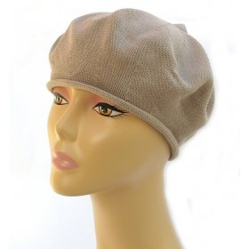 2ff08b20 Knitted Women's Snood Beret with Inner Elastic Drawstring - Black. $23.89.  Womens Classic Beige Cotton Beret