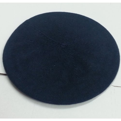 Womens Classic Navy Cotton Beret