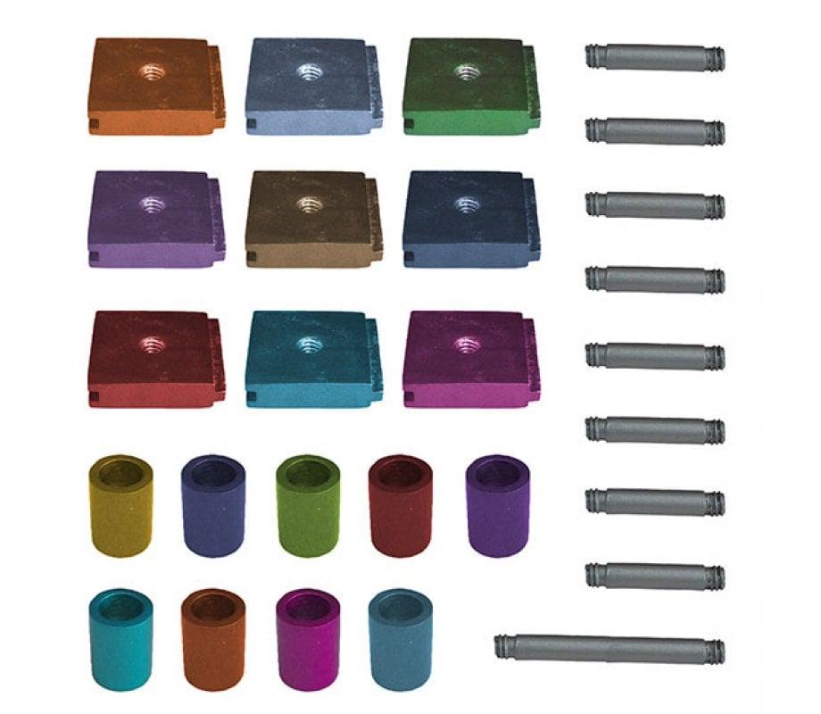 Yair Emanuel DIY Cylinders Chanukah Menorah - Multicolor
