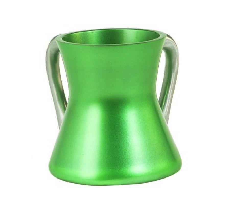 Yair Emanuel Gleaming Aluminum Netilat Yadayim Wash Cup