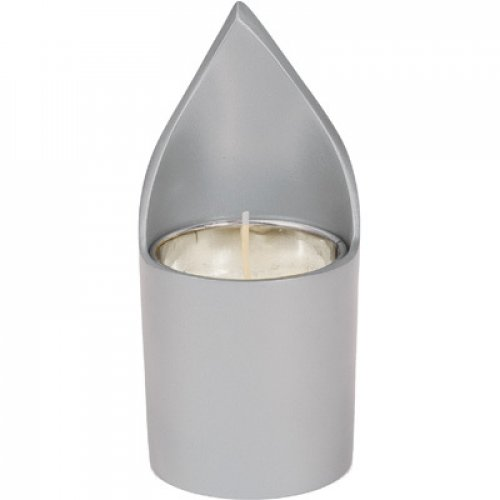 Yair Emanuel Metal Yahrzeit Memorial Candle Holder - Flame Shaped
