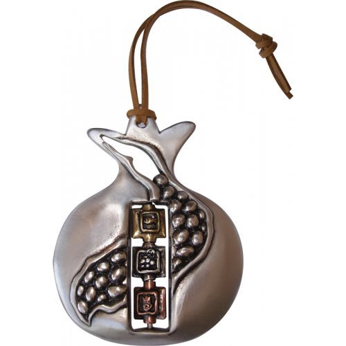 Yealat Chen Pomegranate Wall Hanging with Seeds